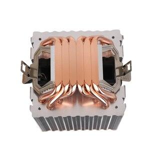 Image 5 - 6 أنابيب الحرارة RGB وحدة المعالجة المركزية برودة المبرد تبريد 3PIN 4PIN 2 مروحة ل إنتل 1150 1155 1156 1366 2011 X79 X99 اللوحة AM2/AM3/AM4