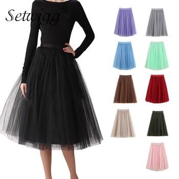 72a362e5b Falda Midi de tiempo-limitado, Lolita Real Faldas de Mujer, Envío Gratis  2019 suelta de costuras de ...