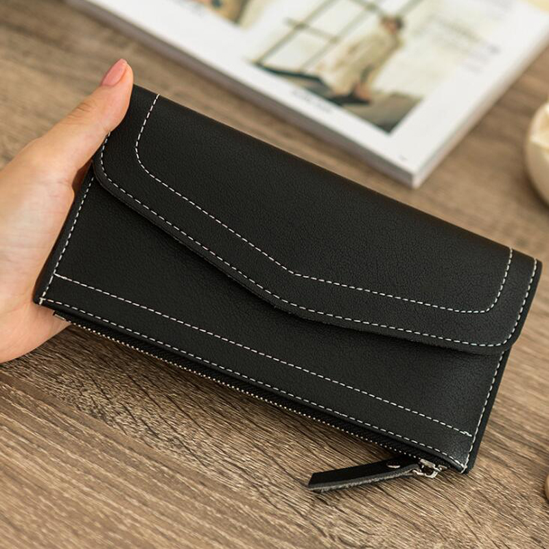 Itapkris Leather Long Envelope Clutch Wallet For Women Girl Solid Hasp Cover Female Wallet Card Holder Coin Pocket Money Purse 2017 brand solid fashion women leather alligator hasp long wallet coin pocket card money holder clutch purse wallets evening bag