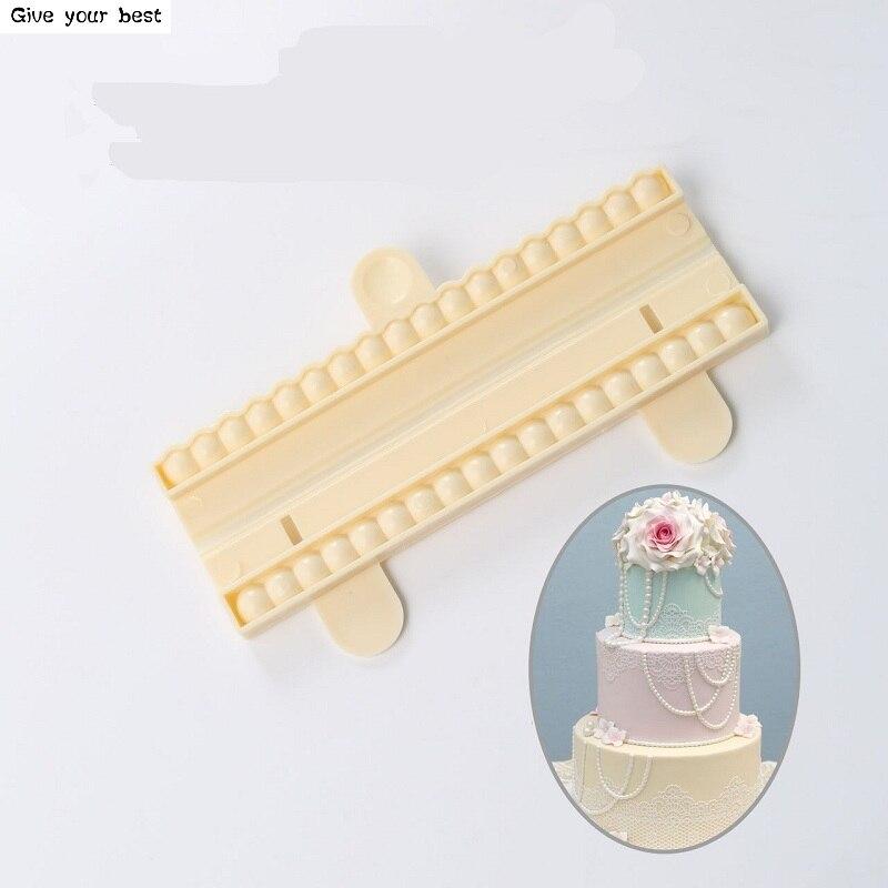 9mm perleťové korálky Forma Sugarcraft Dort Pearl Fondant Vložit Decor Forma Nástroj DIY Kuchyňské nástroje