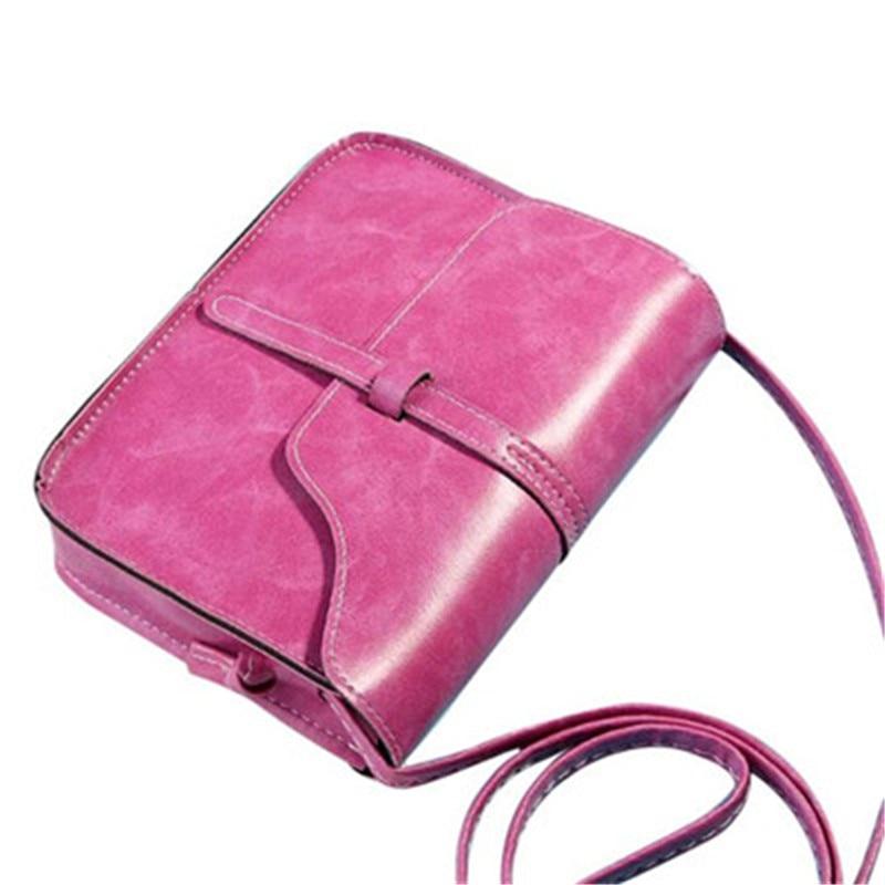 MUQGEW Moda Vintage Bolsa de Hombro PU Bolsa de Cuero Cruzada Cuerpo Bolso Estil