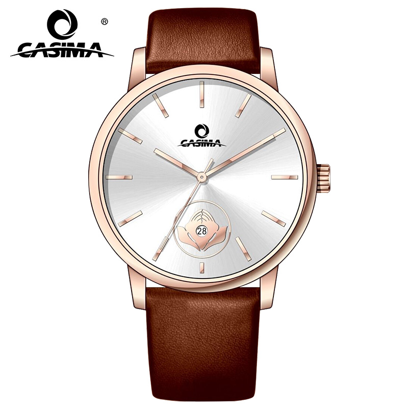 CASIMA Chinese Style Waterproof Alloy Case Leather Watchband Quartz Ladies Wrist Watches with Date for Gift 5138CASIMA Chinese Style Waterproof Alloy Case Leather Watchband Quartz Ladies Wrist Watches with Date for Gift 5138