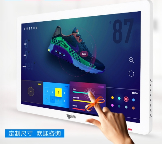 DIY PC 32 42 43 46 47 50 Inch TFT All In One Touch Interactive Wall Mounted Tv Video Ad Lcd Hd LED 1080p Smart Digital Signage