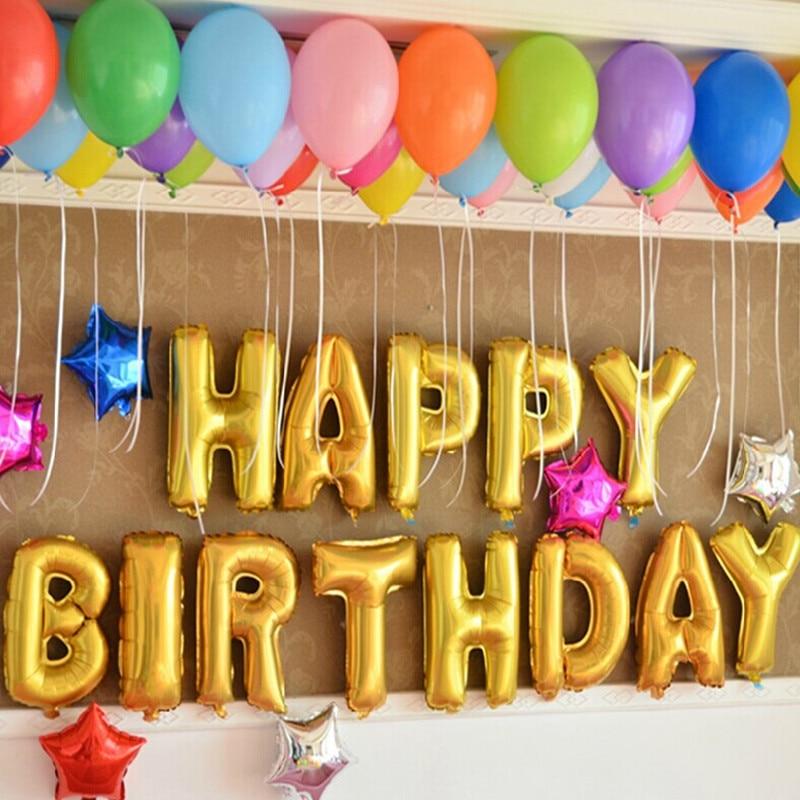 New 13pcs alphabet suit children's toys, balloons happy birthday balloons party