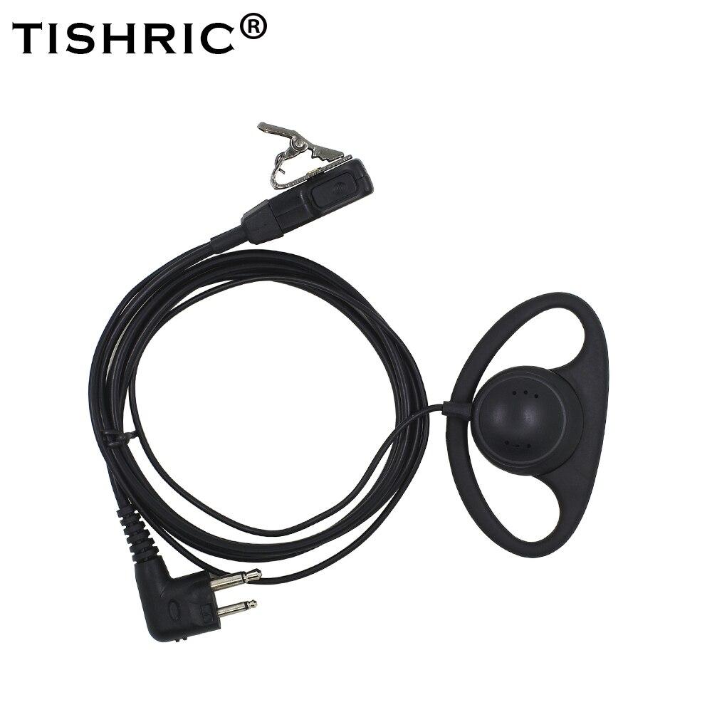 TISHRIC D Shape Soft Headphone Headset Earpiece PTT Mic For Motorola GP3188 GP88S EP450 CP040 DEP450 XIR P3688 Walkie Talkie