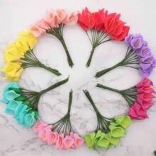 144pcs มินิโฟม Calla Lily ดอกไม้ปลอม Bouquet ประดิษฐ์ดอกไม้สำหรับตกแต่งงานแต่งงานวันวาเลนไทน์ปัจจุบัน. Q