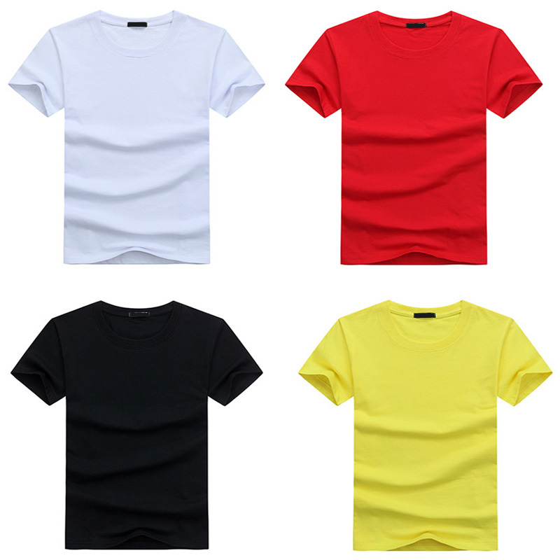 High Quality Fashion Men T Shirts Large Size Casual Short Sleeve Cotton T-shirt Mens Solid Tee Shirt Summer Clothing Big S-5XL