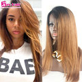 Baby Hair Human Hair Lace Front Wigs 7A Two Tone #1b/30 Full Lace Human Hair Wigs Silky Straight Remy Human Hair Full Lace Wigs