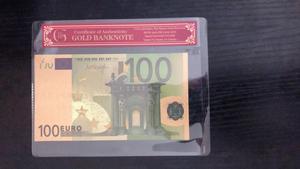 Faux billets en or, 100 Euros, feuille d'or Pure, avec cadre COA, pour Collection de billets de banque