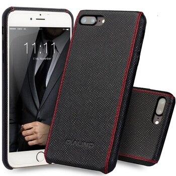 QIALINO Kasus untuk iphone 8 ditambah Mewah Betis Kulit Asli Cover untuk iphone 7 ditambah Ultra Slim mode untuk 4.7/5.5 inch