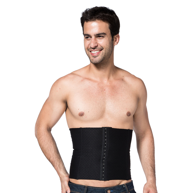 Homens do corpo Shaperwear Tummy Slimming Belt cintura Cincher cintura espartilhos Shapers abdômen Trimmer controle de gordura quente L-XXXL