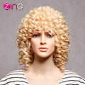 Afro Kinky Curly Wig Synthetic Women's Wig Kinky Curly Synthetic Wigs  Perruque Synthetic Women Three Colors AAA Wig Synthetic