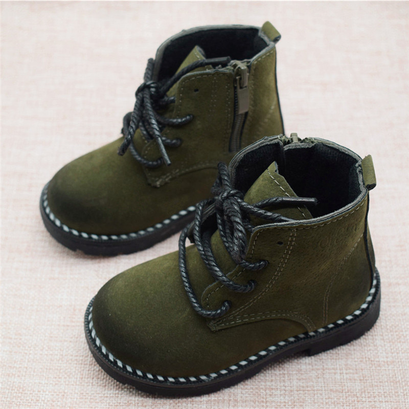 Size 21-30 Fashion 2019 Autumn Boys Baby Boots For Girls Children Martin Boots Kids Ankle Zip Sneakers Girl Casual Toddle Shoes