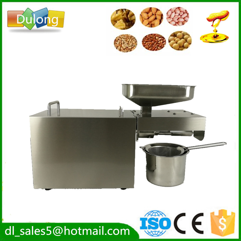 All Stainless Steel  Automatic Nuts Seeds  Oil Press Machine Oil Presser Pressing Machine 180-240V with English Manual stainless steel cocoa seeds peeling machine for sale