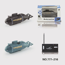 Mini Submarine 777-216 Updated Version RC Speed Boat Remote Control Drone Pigboat Simulation Model Gift Toy Kids