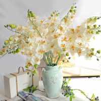 Sztuczne Kwiaty motyl orchidea Phalaenopsis Sztuczne lateksowe orchidee kwiat do dekoracji ślubnej domu Sztuczne Kwiaty