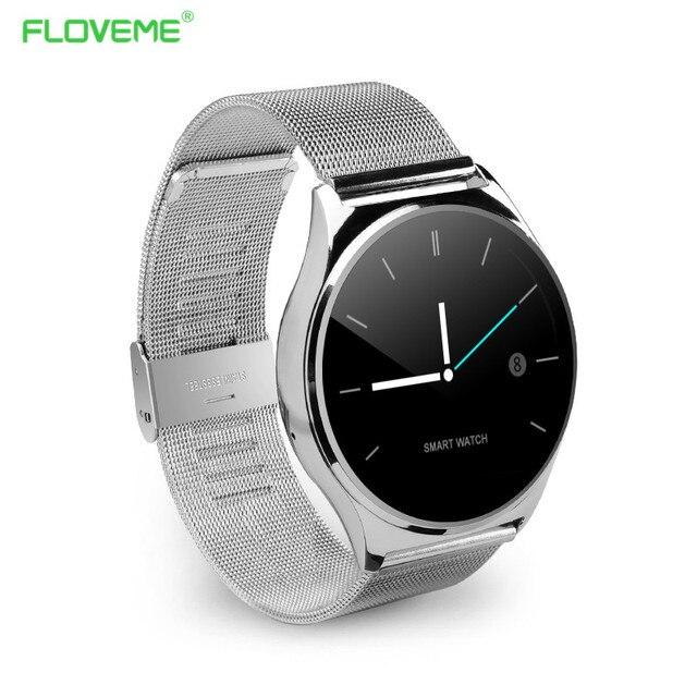 FLOVEME Luxury Wearable Smart Watch Stainless Steel Smartwatch Metal Strap Bracelet Men Women For iPhone Android
