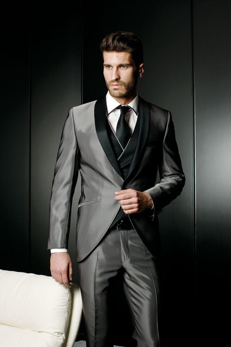 2017 solapa encargo La Pantalones hombres de mancha en 3 en vestido  italiano unidades de de gris chaqueta de vestir Trajes ... c18b70e54a7