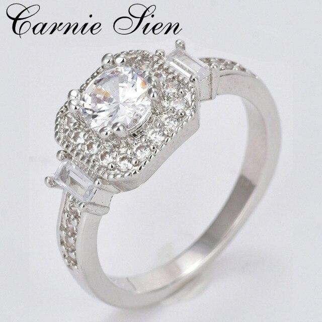Carnie Jewelry Wedding Ring For Women Anillos De Acero Inoxidable Para Las Silver Color