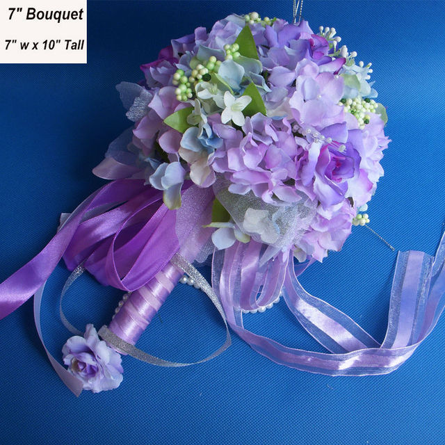 7 Handmade Bride Flower Bouquet Rustic Wedding Accessories