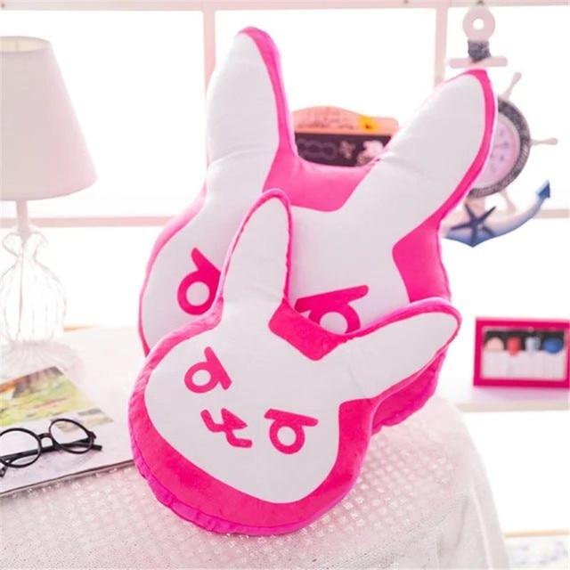 1pc 35cm/55cm Overwatches Game Plush Pillows Pioneer Dva Rabbit Plush Pillow Cushion Toys Soft Stuffed Animals Cosplay Kids Toys 1