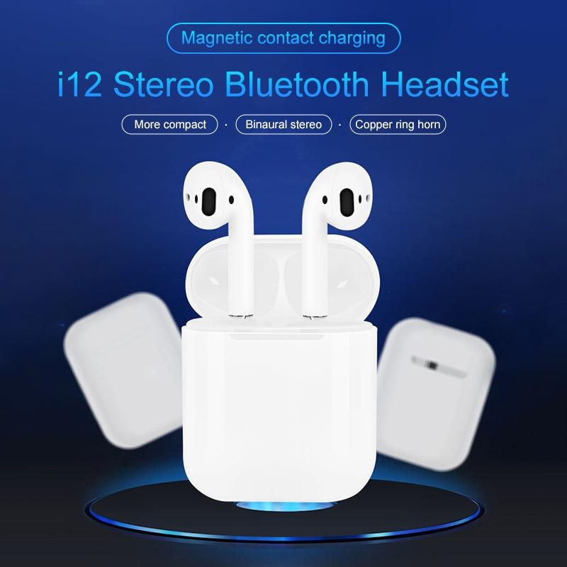 IBesi Original i12 Tws Bluetooth écouteurs 5.0 écouteurs sans fil casque tactile contrôle casque i12 Tws Mini pour iPhone Xiaomi - 2