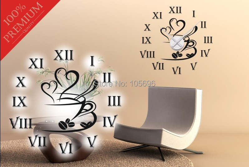 80*80 Cm Papel De Parede Relógio De Parede Adesivo Decalque Decoração Da  Sua Casa