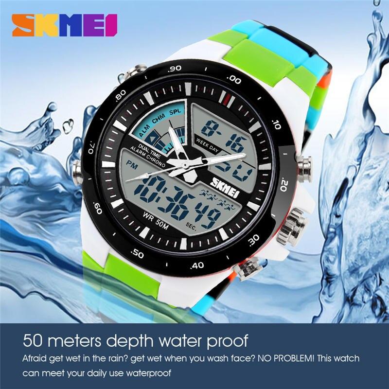 Swim Sports Watch 50m Waterproof Male Watches Japan Quartz Clock Electronic Display Outdoor Product Fashion Color Men SKMEI 1016