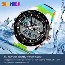 Swim Sports Watch 50m Waterproof Male Watches Japan Quartz Clock Electronic Disp