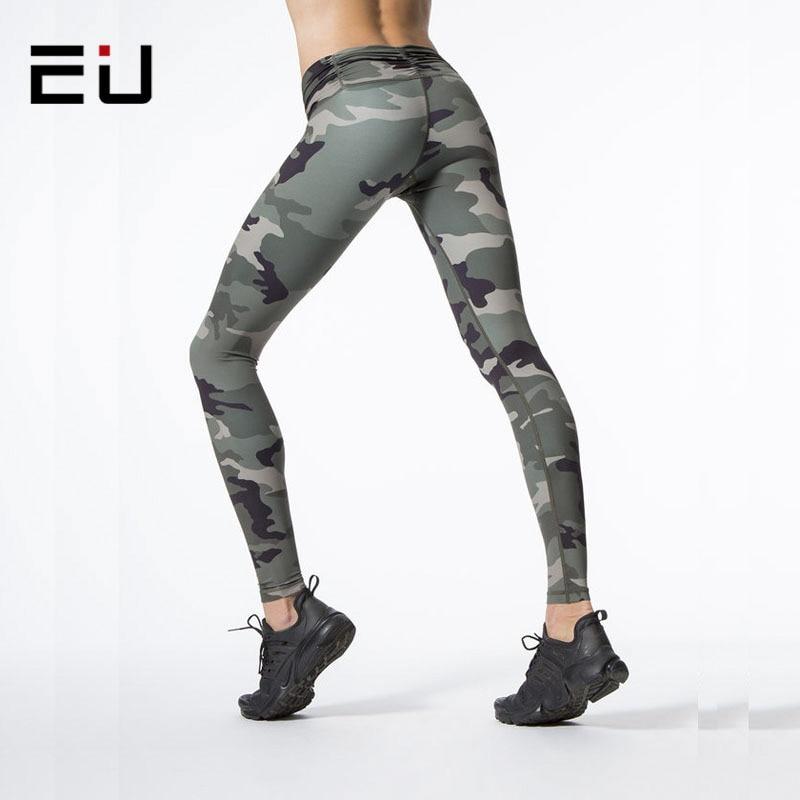 fdcd1096057e7 EU Women Camo Yoga Pants Women Yoga Leggings Camouflage High Waist Running Tights  Women High Quality Fitness Sport Leggings-in Yoga Pants from Sports ...