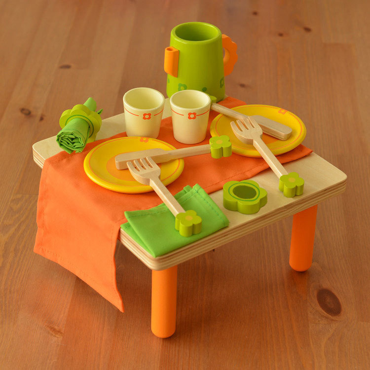 Baby toys child wooden tableware tea set kitchen toy for Cuisine wooden