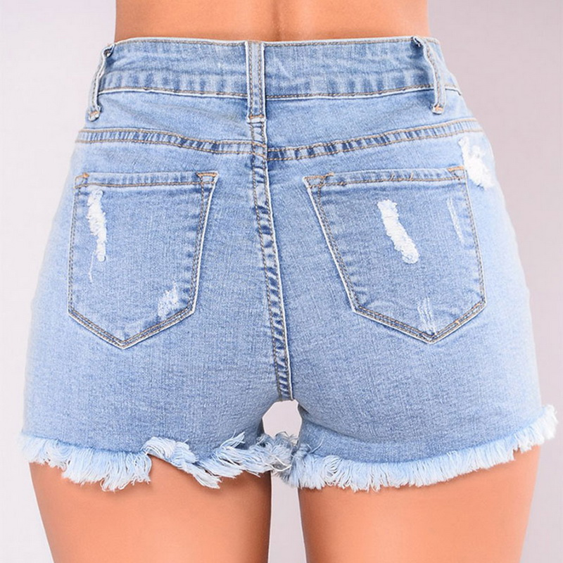cb88e703d5 LASPERAL 2018 Summer High Waist Hole Ripped Jeans Tassel Streetwear Short  Jeans Light Pocket Jean Female Denim Women Shorts-in Jeans from Women's  Clothing ...