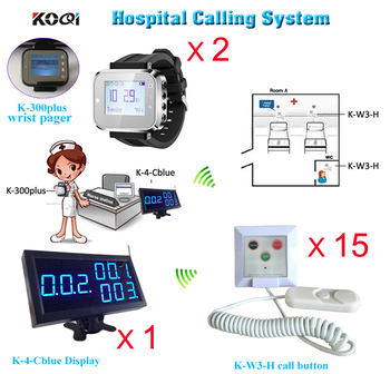 Nurse call system watch service for clinic wireless equipment (1 monitor+ 2 pagers+15 alarm bell)