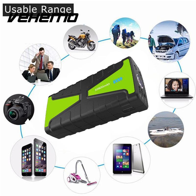 Vehemo 16800mAh Dual USB Jump Starter Battery Jump Starter US/EU/UK/AU Plug Premium Battery Charger Emergency tyumen battery premium 6ст 77la 77ач пр