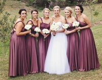 Under 100 Cheap Long Bridesmaid Dresses 2019 Spring New Arrival Plus Size Convertible Dresses 2019 Custom Made Bridesmaid Gowns