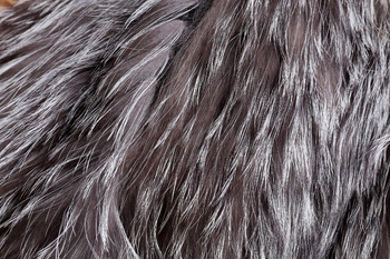 2015 New Arrival 100% Natural Silver Fox Fur Knitted Coat, Women's Real Fox Fur Outerwear SU-1521 EMS Free Shipping 6