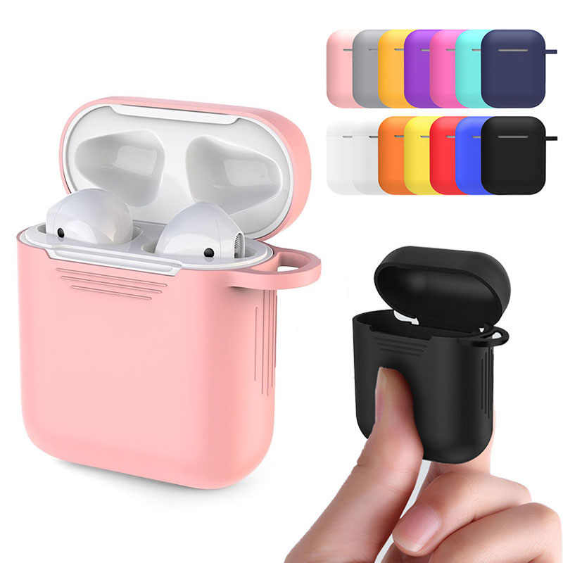 TPU Silicone Bluetooth Wireless Earphone Case For AirPods Protective Cover Skin Accessory for Apple Airpods Charging Box