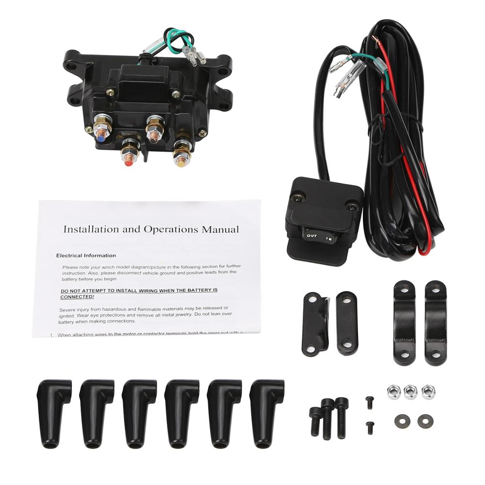 Rupse Atv Utv Solenoid Relay Contactor Winch Rocker Thumb Switch Wiring Combo 12v In Car Switches Relays From Automobiles Motorcycles On