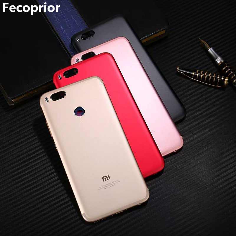 Mi5X Original Housing For <font><b>Xiaomi</b></font> Mi A1 5X <font><b>MiA1</b></font> Metal <font><b>Battery</b></font> Back Cover Mobile Phone Cover Replacement Parts Case image