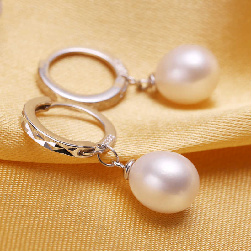FENASY Pearl Jewelry,Pearl Pendant Necklace, Freshwater Pearl Earrings, with 925 Sterling Silver ,J00s