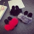 Ostrich Hair Slippers Fur Furry Slide Flip Flops Women Home Slippers Female Sweet Fenty Indoor Soft Comfotable Casual Quality