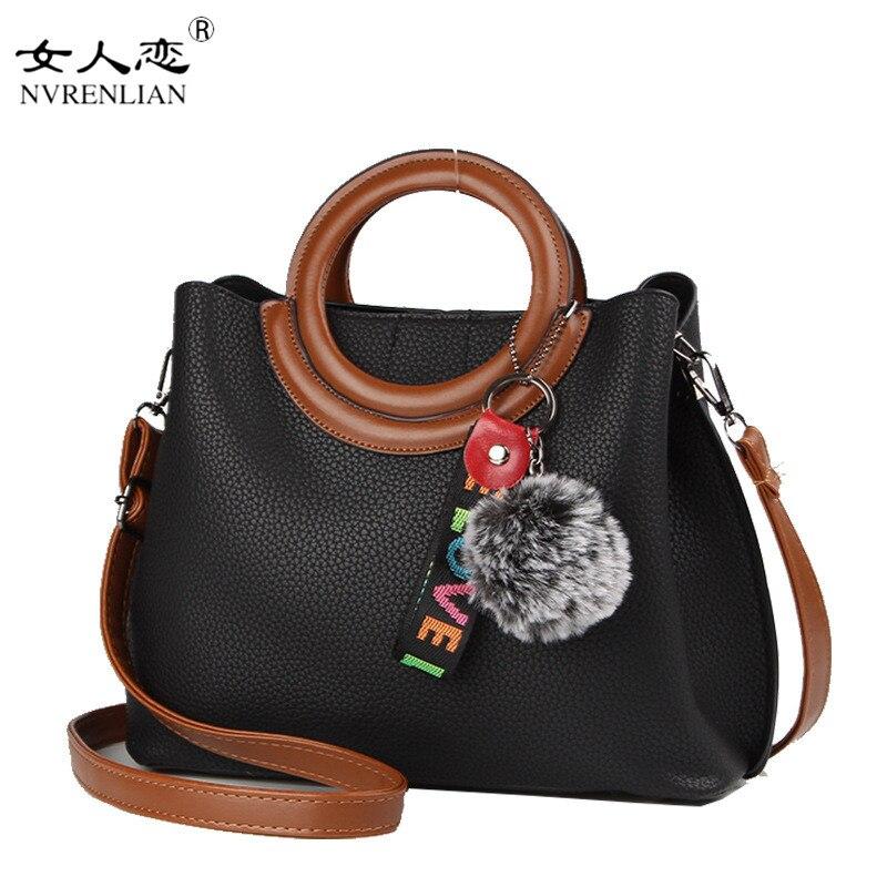 NVRENLIAN Fashion Women Handbag Designer Brand PU Leather Shoulder Bags Female Top-Handle Bag V Large Capacity Tote