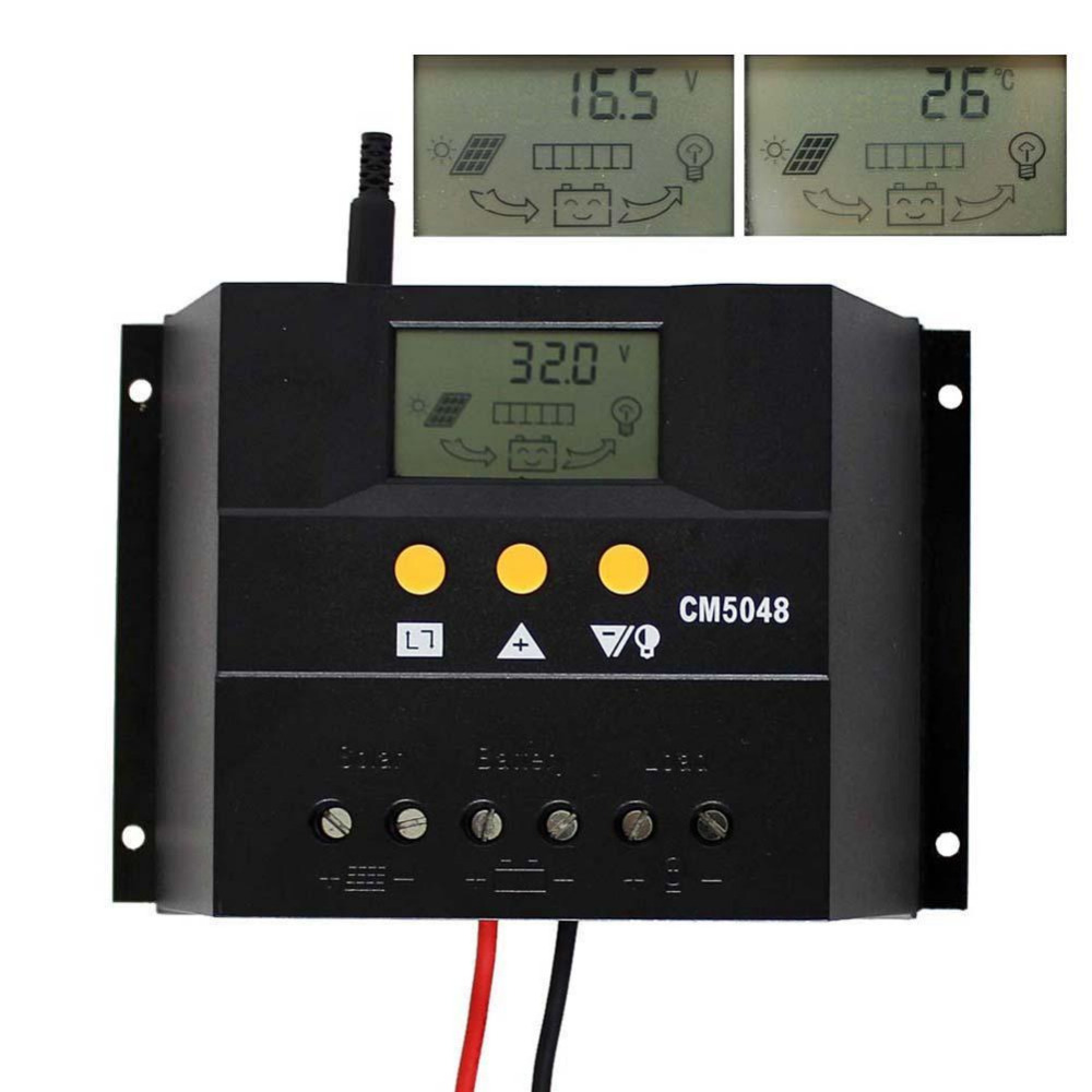 50A 48V Solar Controller PV Panel Battery Charge Controller Solar system Home indoor use PWM 50A Solar Controller Regulator nv48v050d high quality pwm solar charger controller 50a with lcd display solar battery panel charge controller regulator