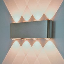 Indoor led wall light 8W Brushed aluminum sconce Surface mounted AC90-265V Living room home decoration Modern Led lamp