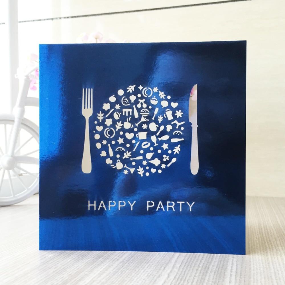 50psclot shimmer paper delicate carved custom dinner