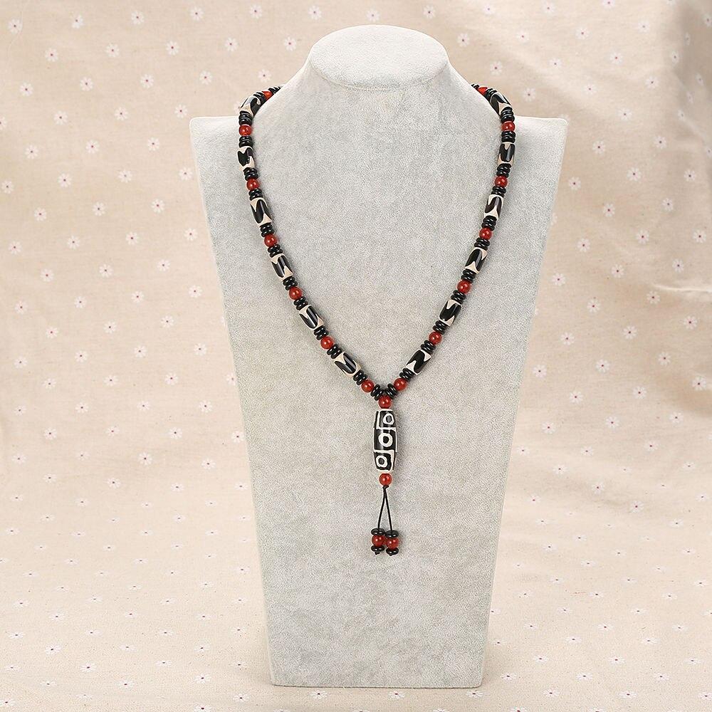 купить 2018 Black Agate Natural Stone Long Necklace Fashion Big Purple Crystal Heal Point Chakra Water Drop Pendant For Women Necklace по цене 2673.32 рублей