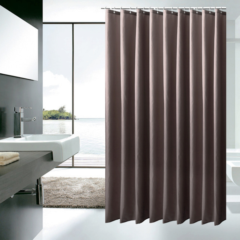 Heavy Weight Fabric Shower Curtain Mildew Resistant Water