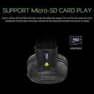 Image 4 - ワイヤレスヘッドフォン Bluetooth ハイファイステレオヘッドセットとマイク FM ラジオマイクロ SD カード再生 Led ディスプレイスクリーンイヤホン