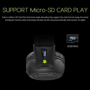Image 4 - หูฟังไร้สายชุดหูฟังสเตอริโอไฮไฟสเตอริโอพร้อมไมโครโฟนวิทยุ FM การ์ด Micro SD Play จอแสดงผล LED หน้าจอหูฟัง