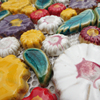 Tile Ceramic Mosaic Colorful Pottery Flower Ceramic Mosaic Handmade Tile Handmade Mosaic Tile